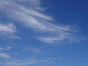 空が綺麗だったので写真を撮りました♪