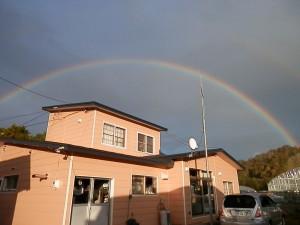 我家に虹が掛かりました~♪♪
