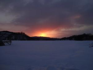 夕日が沈んだ直後の写真。