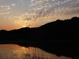 1日の終わりを告げる夕焼け。 自然の恵みに感謝です♪