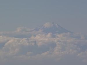 雄大な富士山が見えました!